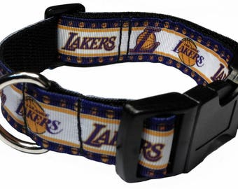 4d16735e49f Los Angeles Lakers Personalized Dog Collar