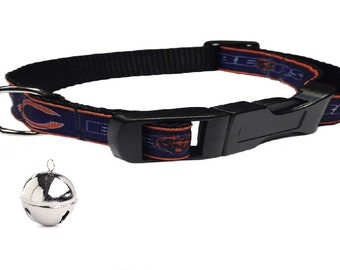 ed9712f522b Chicago Bears Personalized Cat Collar
