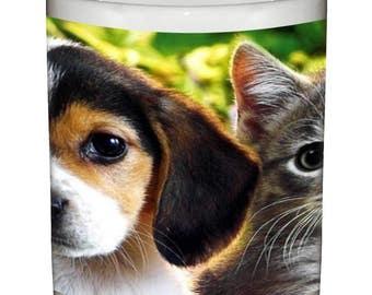 Cute Puppy Kitten Ceramic Coffee Mug Animals Beverage Tumbler Dog Cat Cup