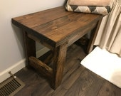 Farmhouse Entryway Bench - Farmhouse Furniture - Rustic Bench - Rustic Furniture - Wooden Bench  - Mudroom Bench - Wooden Furniture