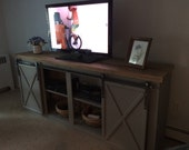 Farmhouse Entertainment Center - Farmhouse TV Stand - Rustic Entertainment Center - Wooden TV Stand - Rustic TV Stand - Farmhouse Furniture