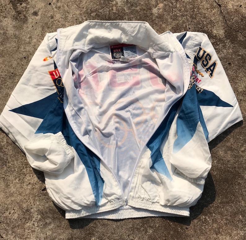 Rare Vintage 90s Champion ATL Atlanta Olympics Games Team Usa zip up windbreaker jacket