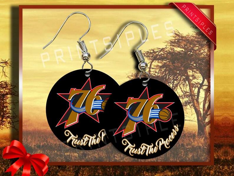 76ERS Basketball Inspired Earrings