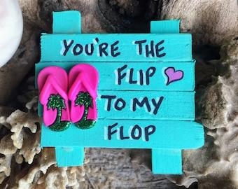 98efc946928881 Flip Flops Refrigerator Magnet - Fridge Magnet - Beach Art