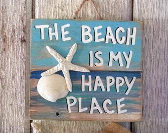 Beach Pallet Art Etsy