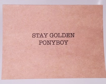 Stay Golden Ponyboy Etsy Grate mandela effect here in the frost poem he says not everything of gold can stay golden. stay golden ponyboy etsy