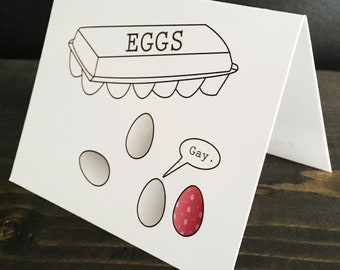 Gay Easter Card