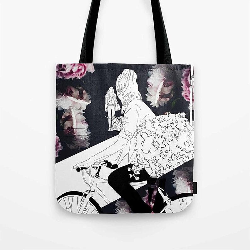 Lesbian Artwork Tote Bag  Date Night  Lesbian Valentine  Wedding  Grocery Bag  Lesbian Love Art  LGBTQ Pride Gay Pride  Lesbian Art