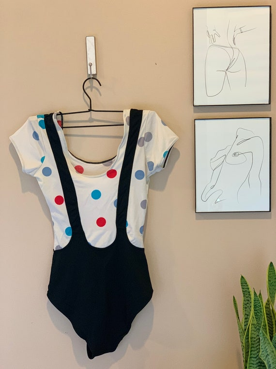 Vintage 1980s HP Polka Dot Leotard
