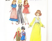 Groovy 70s Wardrobe for 11 1 2 quot Dolls - Barbie, Julia, Maddie Mod, Dollikin - Maxi or Mini Dress, Hot Pants, Bolero - Simplicity 9697