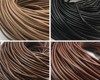 2mm 3mm 5 Yards Cowhide Leather Cord