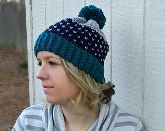 Starry Nights Crochet Beanie - PATTERN ONLY!