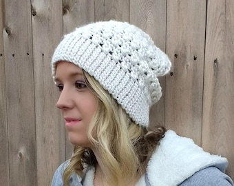 Every Girl Slouch Beanie - CROCHET PATTERN ONLY!
