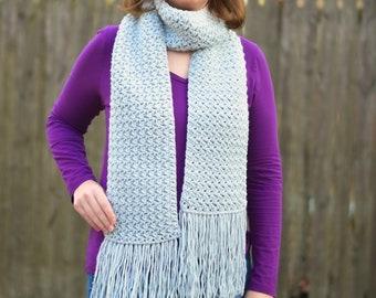 Misty Pines Crochet Scarf - PATTERN ONLY