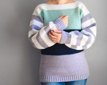 Comfy Crochet Colorblock Sweater Pattern