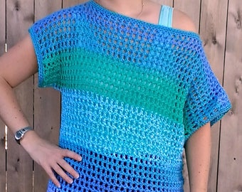 Off-the-Shoulder Crochet Top - PATTERN ONLY!