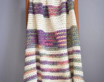 Sunset Stripes Crochet Blanket/Throw PATTERN
