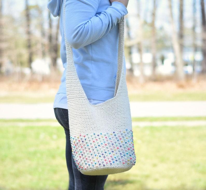 Beaded Crochet Hobo Bag Purse Pattern image 0