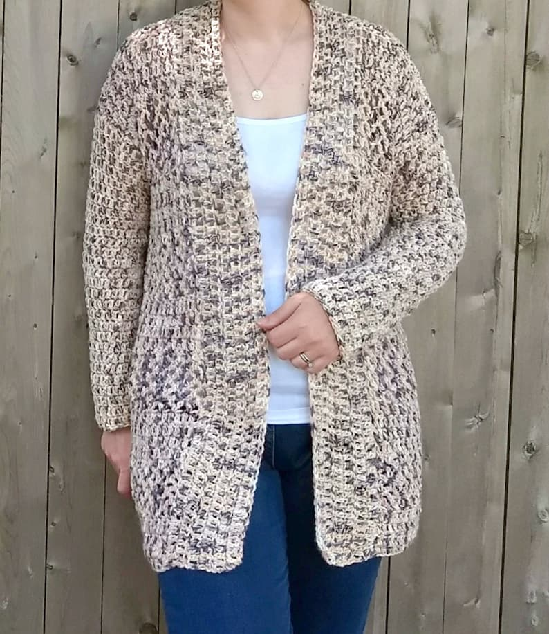 Summer Nights Cardi CROCHET PATTERN ONLY image 0