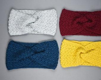 Classic Crochet Twisted Earwarmer - Pattern Only!