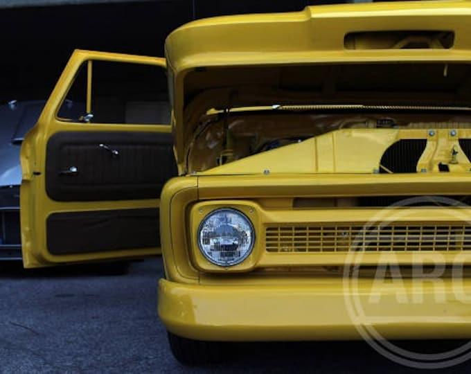 "Classic Car Print ""Yellow Thunder"""