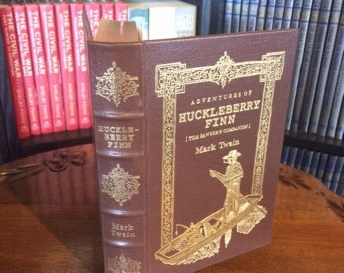 Adventures of Huckleberry Finn by Mark Twain  Easton Press (Leather Bound)
