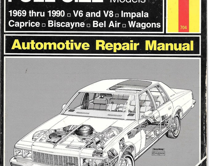 Haynes Chevrolet Full-Size Sedans, 1969-1990 (Haynes Repair Manual) (Paperback)