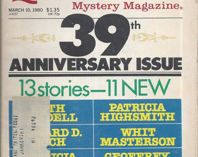 Ellery Queen March 1980 Mystery Magazine