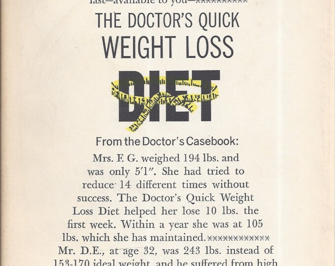 The Doctor's Quick Weight Loss Diet by Erwin Maxwell 1967