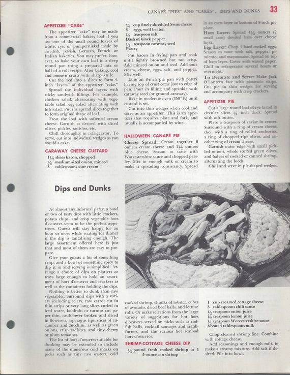 Mary Margaret McBride Encyclopedia of Cooking Cook Book Deluxe Edition 1960 (2ND EDITION) (PAGES 33-64)