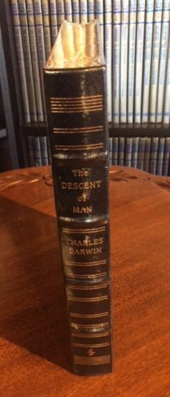 The Descent of Man by Charles Darwin Easton Press (Leather Bound) (SEALED MINT)