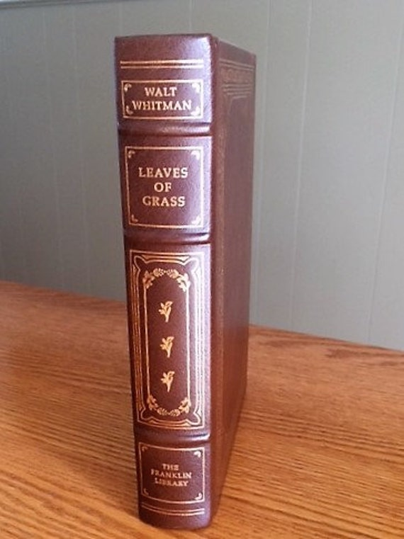 Leaves of Grass by Walt Whitman Franklin Library (Leather Bound)