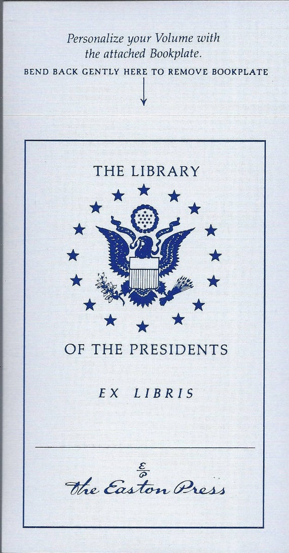 Easton Press Library of Presidents EX Libris (Book Plate)