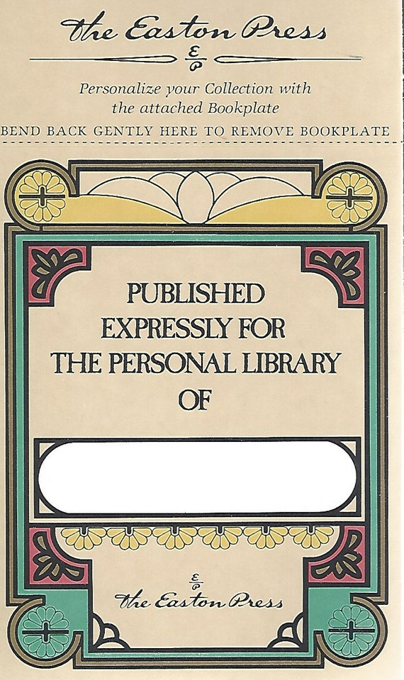 Easton Press   Personal Library   (Book Plate)