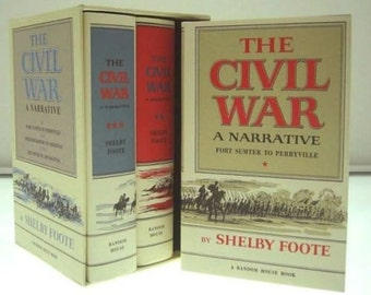 Shelby Foote's The Civil War-A Narrative 3 volume hardcover box set (MINT) Sealed