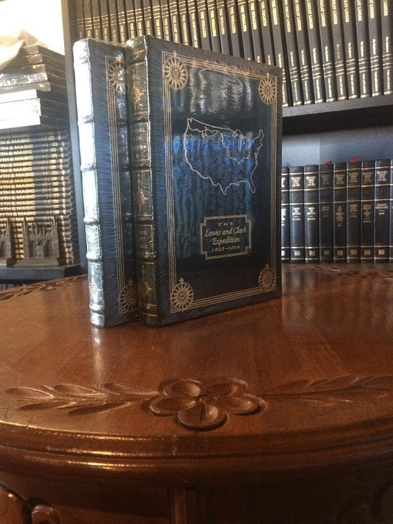 Lewis and Clark Journals of the Expedition Volume I & II   Easton Press Leather Bound  (1998)