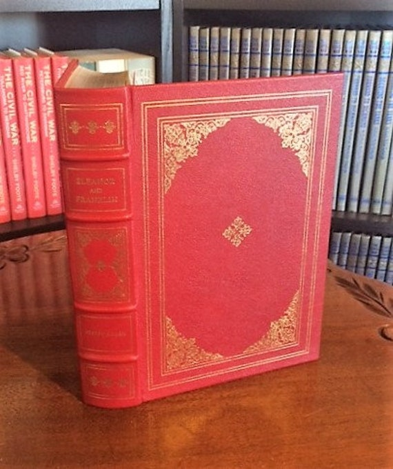 Eleanor and Franklin by Joseph P Lash Franklin Library-Pulitzer Prize Leather Bound (NEAR MINT)