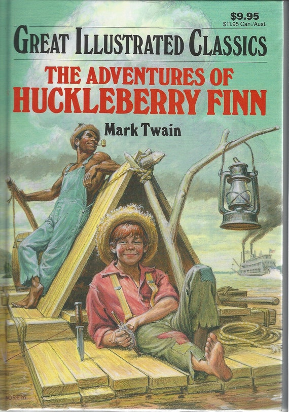 Great Illustrated Classics Huckleberry Finn by Mark Twain (Hardcover) 1990