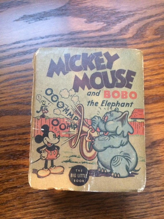 MICKEY MOUSE and Bobo the Elephant (1935) Better Little Book (Whitman)