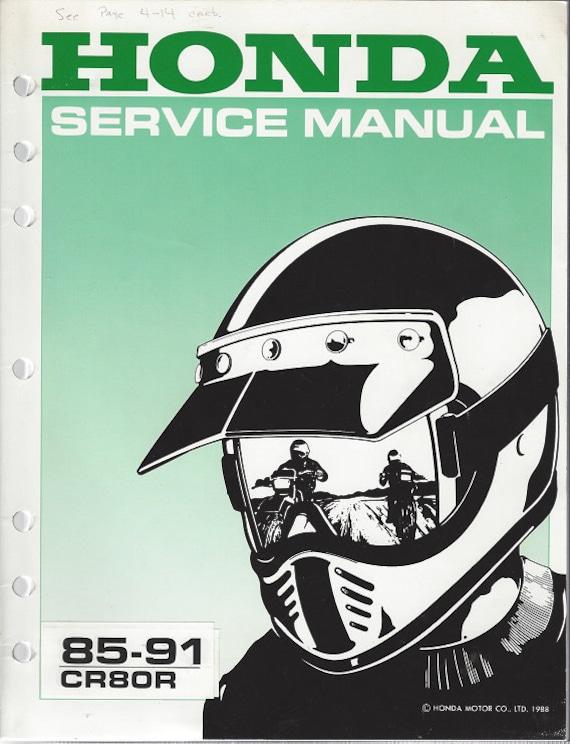 Honda CR80R (85-91) Sevice Manual  (Paperback)