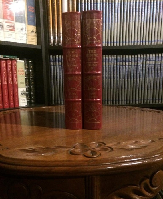 The Rising Sun by Toland Volumes I & II   Easton Press Leather Bound