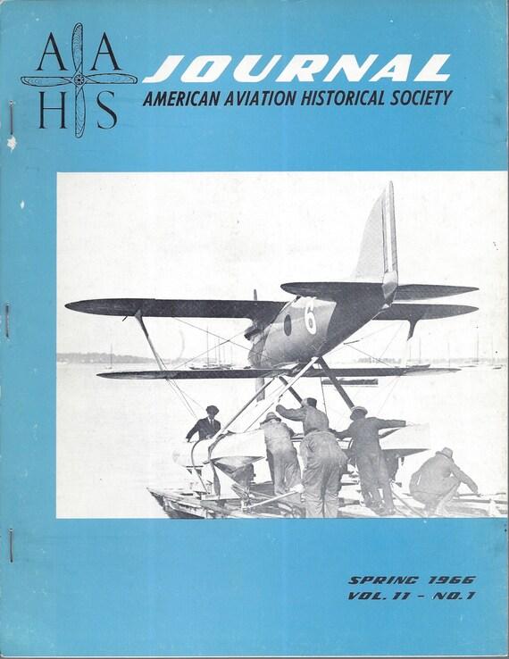 AAHS Journal Spring 1966 Volume 11-No. 1 Curtiss R2C