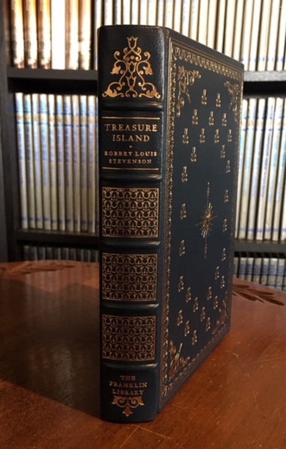 Treasure Island by Robert Louis Stevenson Franklin Library (Leather Bound)