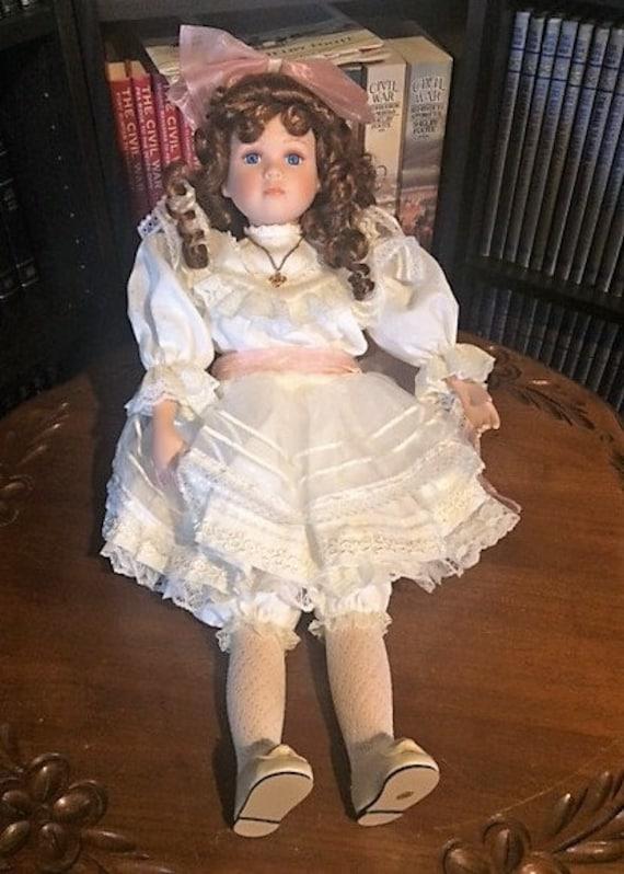 Kingstate Porcelain Doll;   EMMY DOLL  from  The Prestige Collection  Vintage (1990's)