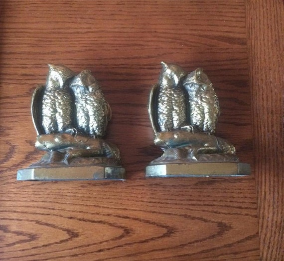 OWL Bookends (Bronze over Cast Iron)