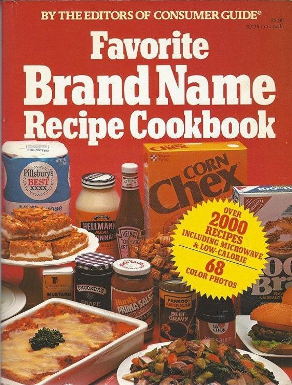 Favorite Brand Name Recipe Cookbook     Softcover (1981)