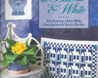 Cross-Stitch in Blue & White (Hardcover) 1995