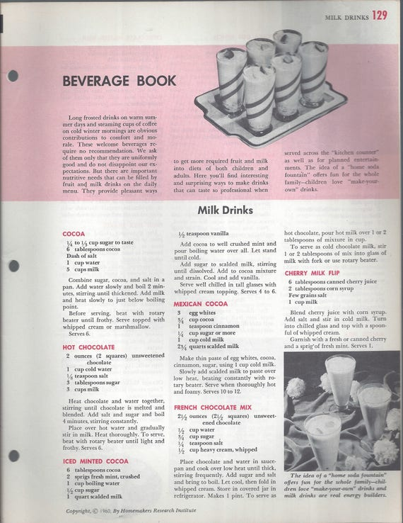 Mary Margaret McBride Encyclopedia of Cooking Cook Book Deluxe Edition 1960 (2ND EDITION) (PAGES 129-160)