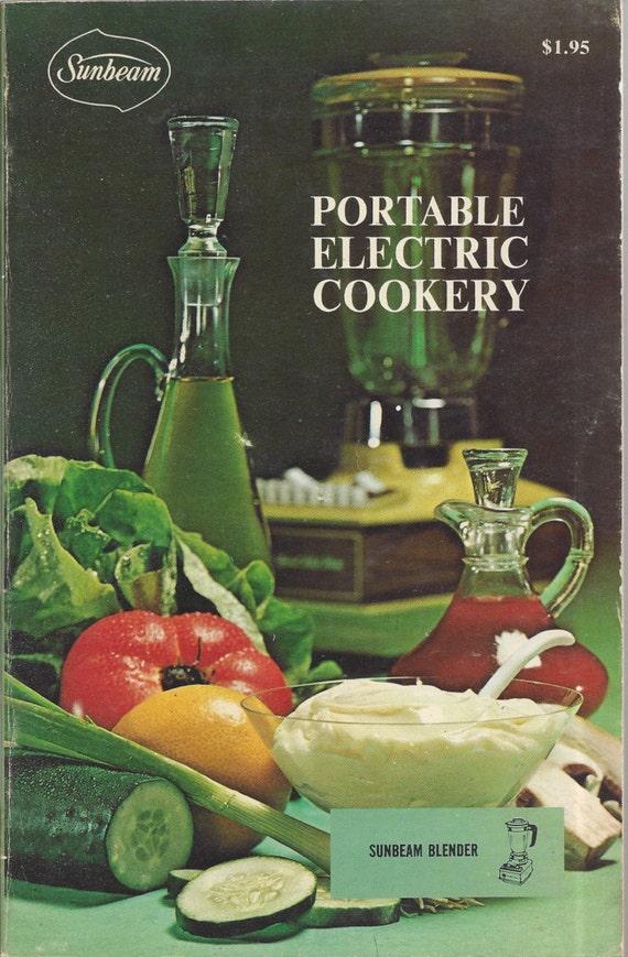 Sunbeam Blender Portable Electric Cookery Cookbook 1970 (SC)