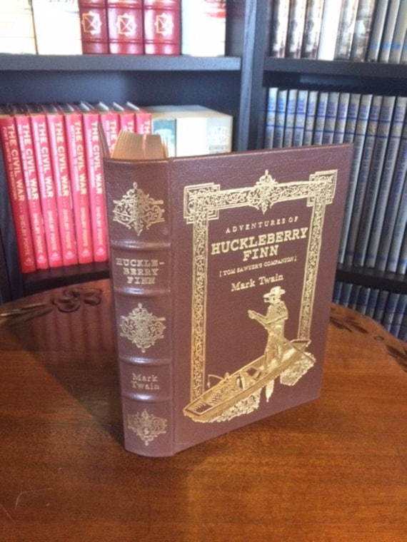 Adventures of Huckleberry Finn by Mark Twain  Easton Press (Leather Bound)
